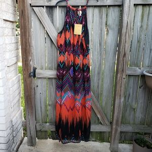 NWT  very pretty   and colorful  maxi dress  3x